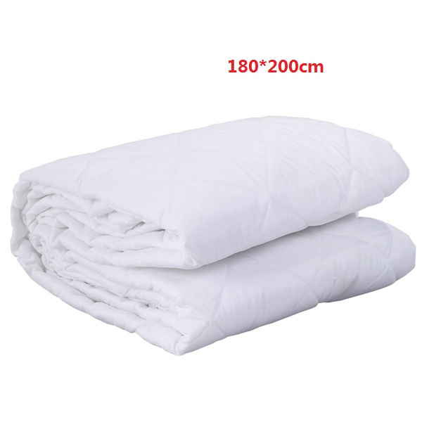 Mattress Cover Bed Topper Bug Dust Mite Moistureproof Pad Protector Quilted 180*200cm ...