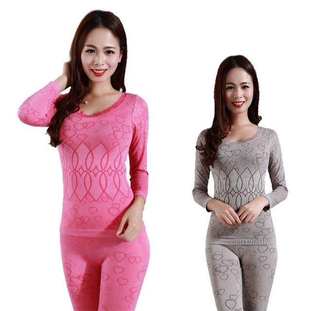 Women Seamless Thermal Underwear Winter Thermal Wear Model Warm Women Long Johns Womans Underwear Body Long Sleeves
