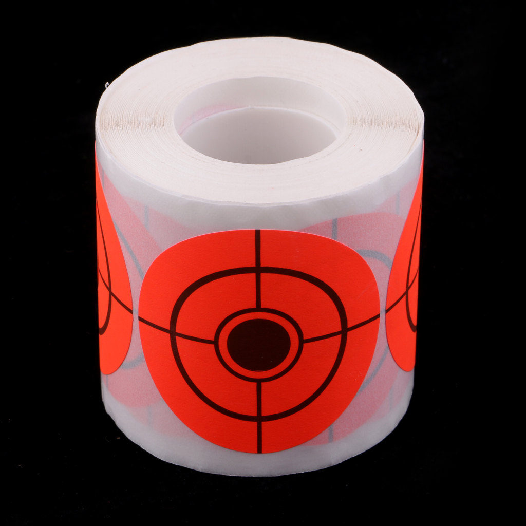 250 Pieces Target Paper Round Adhesive Target Roll Hunting Accessories For Archery Shooting Hunting Training