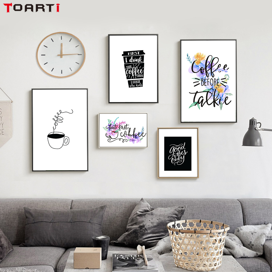Coffee Life Wall Poster Scandinavian Art Minimalist Abstract Modern Painting Living Room Home Decoration Pictures Christmas Gift (3)
