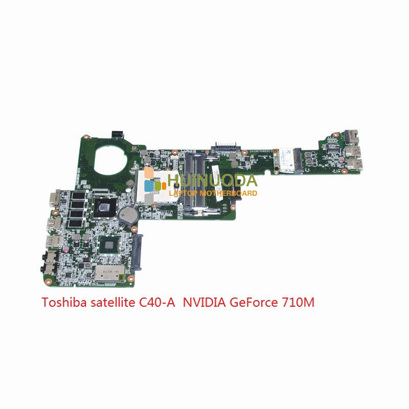 все цены на  Laptop motherboard For toshiba satellite C40 C40-A with NVIDIA GeForce 710M ddr3 Mainboard A000255480 DA0MTKMB8E0 REV E  онлайн