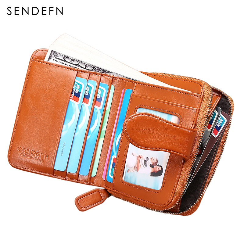 SENDEFN Short  Female Leather Wallet Easy Carry Women Wallet Fashion Dollar Price Card Holder Lady Purse Female Wallet
