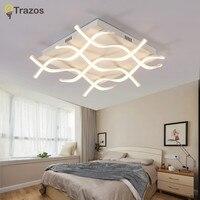 Новинка прямоугольник акриловые светодиодные светильники потолочные для гостиной спальня lamparas де TECHO led потолочный светильник лампа свети