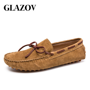 Image 5 - Designer Suede Leather Lace Up Men Casual Shoes High Quality Soft Mens Loafers Moccasins Italian Fashion Driving Shoes Big Size