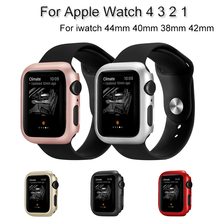 Luxury PC Watch Case For Apple Watch 4 3 2 1 Frame Shell For iwatch 44mm 40mm 38mm 42mm Bumper Protective Cover Accessories цена и фото