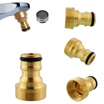 """JX-LCLYL 1pc latão 3/4 """"adaptador de torneira de bronze rosqueado exterior macho conector rápido adaptador mangueira de água do jardim torneira bico de pulverização"""