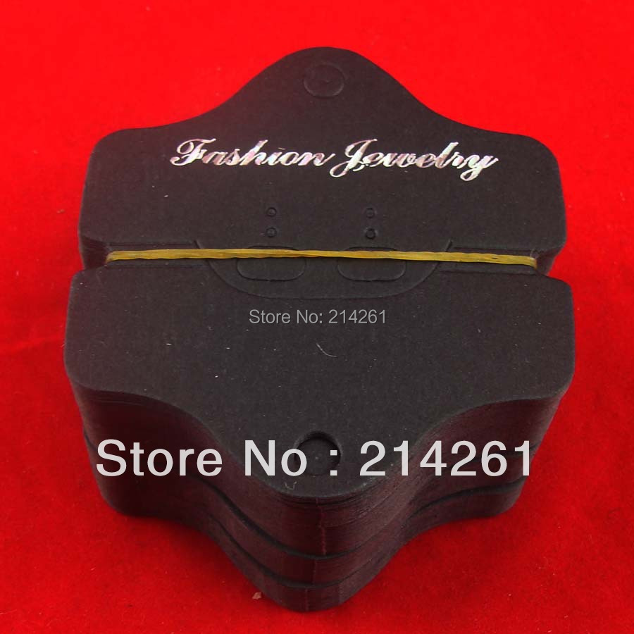 Wholesale Fashion Jewelry Displar cards Necklace Card Price tags Label stickers Wedding tags make your logo moq 2000pcs