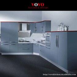 2016 индивидуальные кухонные шкафы горячая Распродажа Современная серая Лаковая кухонная мебель