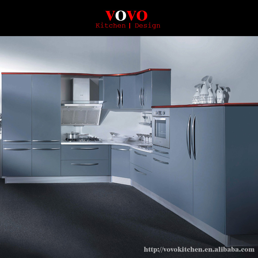 Customized Kitchen Cabinets Hot Sales Modern Grey Lacquer - Grey kitchen cabinets for sale