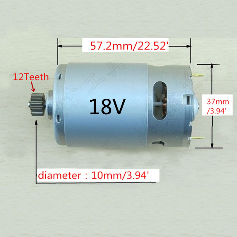 High-quality! 12 Teeth Replacement DC Motor 18V For BOSCH Cordless Drill Driver Batt-Oper Screwdriver набор bosch дрель аккумуляторная gsb 18 v ec 0 601 9e9 100 адаптер gaa 18v 24