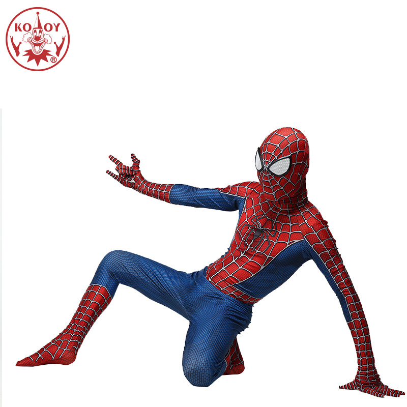Spiderman Costume Adult 3D Printed Lycra Spandex Spider Man Cosplay For Halloween Superhore Costumes For Boys