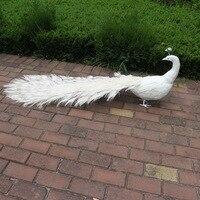 Пены и перьями Искусственные Птицы большие 150 см белый Peafowls опору, перья павлина модели, домашний сад активности украшения w0520