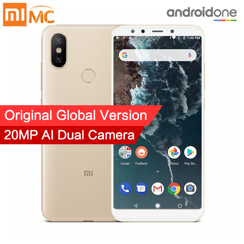 "Global Version Xiaomi Mi A2 4GB 32GB Smartphone 20.0MP AI Dual Camera 5.99"" 18:9 Full Screen Snapdragon 660 Octa Core Metal Body"