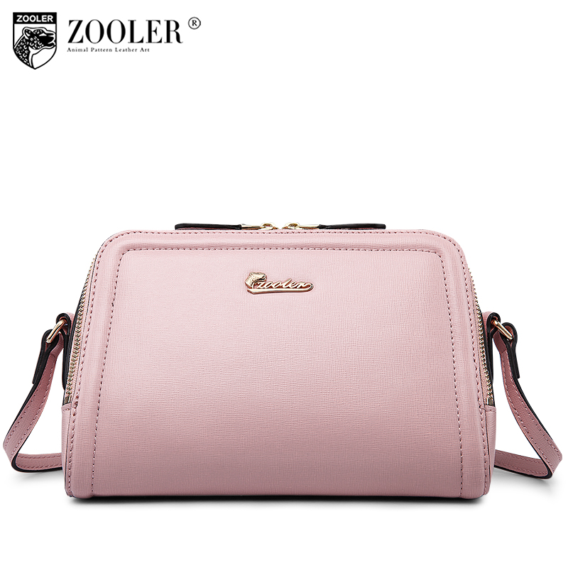 ZOOLER woman leather bag genuine messenger Bags famous brand elegant solid bag for lady cross body small bag 0- profit  #B101