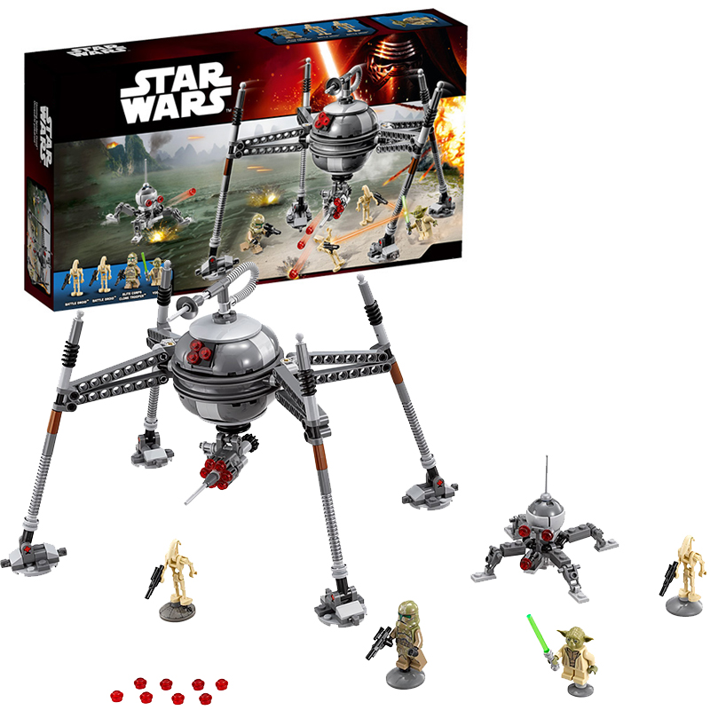 Lepin 05025 Star Wars Homing Spider Droid building bricks blocks Toys for children Game Compatible with Decool Bela 75142 lepin 02012 city deepwater exploration vessel 60095 building blocks policeman toys children compatible with lego gift kid sets