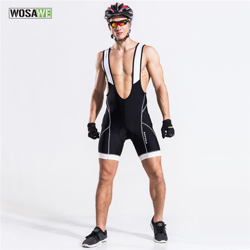 WOSAWE New Outdoor Cycling Bib Shorts Men Bike Running 3D Pad Shorts Breathable Quick Dry Ciclismo Bib Shorts XXL