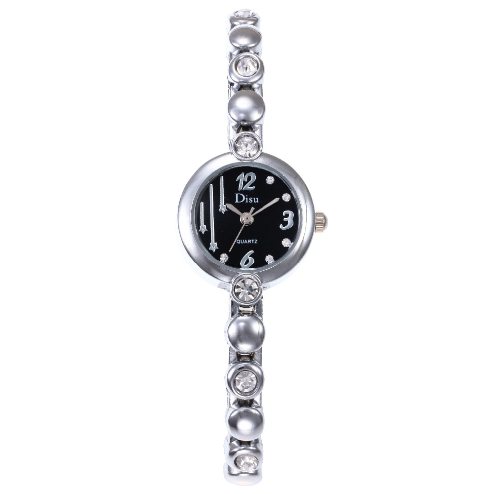 Moda Mujer 2018 Luxury Gold Watch Clock Women Diamond Crysta