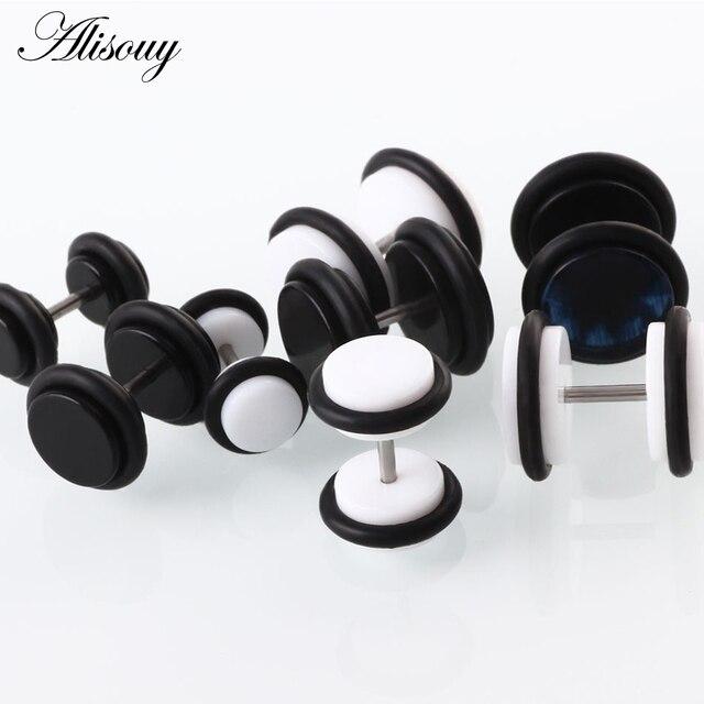 Alisouy 2 PCS Earrings Men Women Stud Acrylic Fashion Stud Earrings Body Jewelry White Black 6mm.jpg 640x640 - Alisouy 2 PCS Earrings Men Women Stud Acrylic Fashion Stud Earrings Body Jewelry White Black 6mm 8mm 10mm ear body jewelry