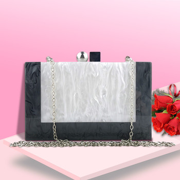 Crossbody Bags For Women 2019 Simple Wild Shoulder Bags For Women Evening Bag Stitching Color Acrylic Box Party Package K715
