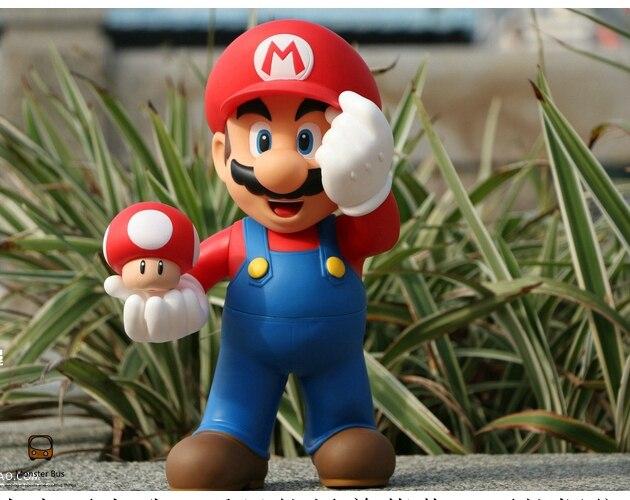Super Mario Bros Mario champignon 12 pouces 30 CM vinyle Figure poupée jouets