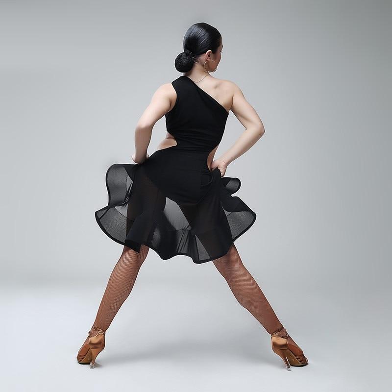 Natečaj latino plesa Kostumi dame Latinsko obleko obrobje-3831