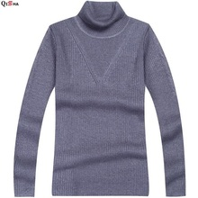 The 2017 men's new men's high collar sweater thickening. Wool sweater man. Slim turtleneck sweater male sleeve head