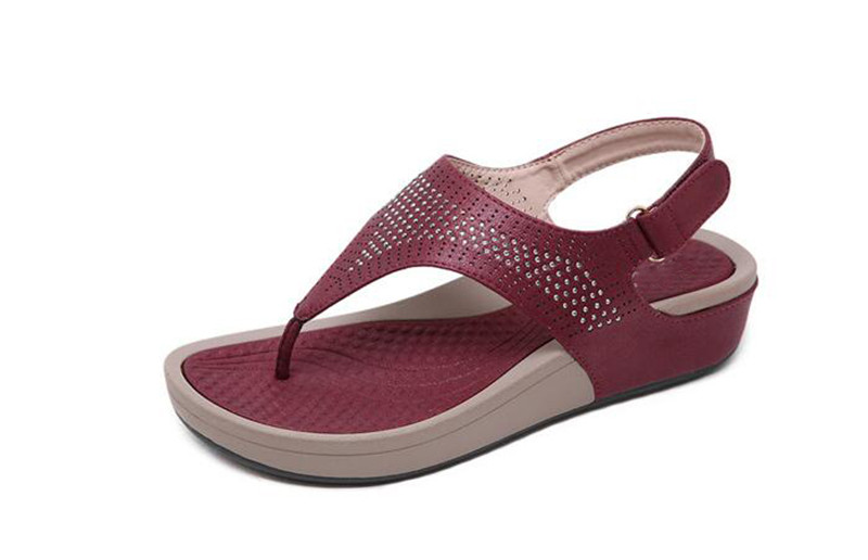 TIMETANGNew Summer Wedge Rhinestone Women Sandals Open Toe Gladiator Sandals Women Casual Women Platform Sandals Beach flipflops