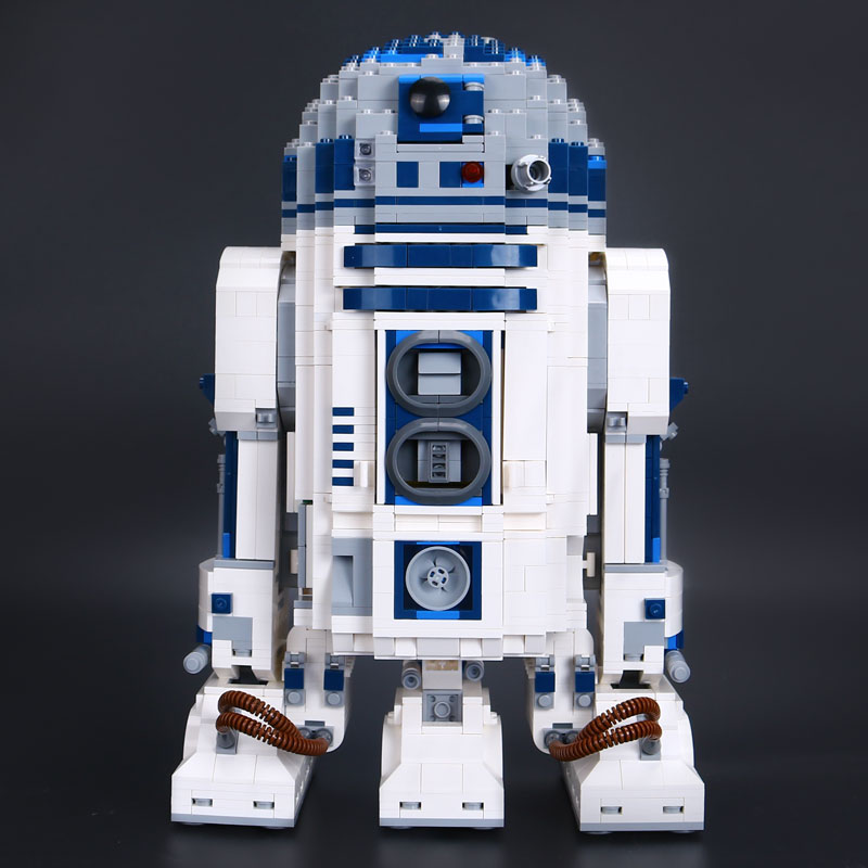 Lepin 05043 2127pcs Genuine The R2 model D2 Robot Set Out of print Building Blocks Bricks legoINGlys 10225 birthday gifts lepin 05043 2127pcs genuine the r2 model d2 robot set out of print building blocks bricks legoinglys 10225 birthday gifts