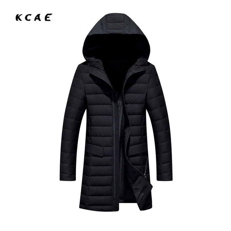 90% White duck down Black cotton men's clothing 2017 winter Long hooded men's jacket men's Windbreaker tide 4XL top quality maternity long jacket 90% white duck down coat winter mother cotton padded loose clothing thickening white black red