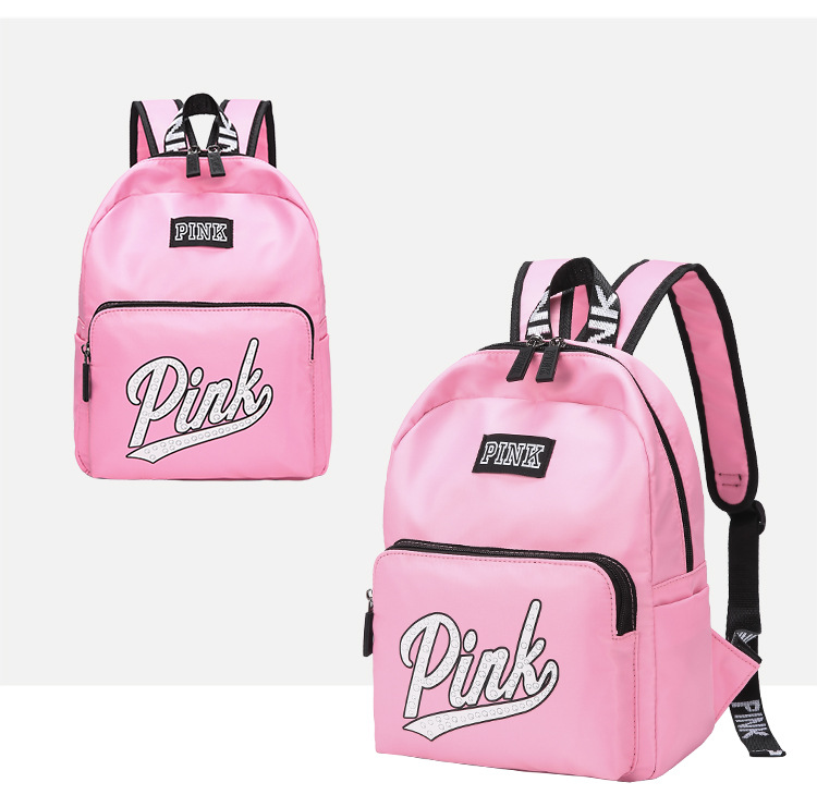 Summer Holiday Beach letter Shoulder bag Shopping School Teenage Girls Classic Bagpack love pink backpack for 2019 mochila in School Bags from Luggage Bags