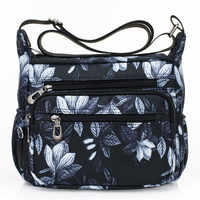 2019 Designer Handbags Women Flower Butterfly Printed Waterproof Nylon Shoulder Bags Retro Crossbody Bag Bolso sac a main femme