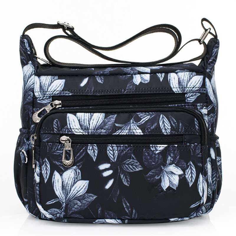 2019  Designer Handbags Women Flower Butterfly Printed Waterproof Nylon Shoulder Bags Retro Crossbody Bag Bolso Sac A Main Femme
