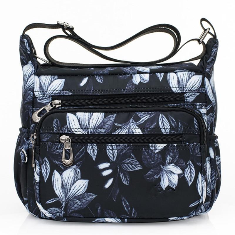2019 bolsas de grife feminino flor borboleta impresso à prova dnylon água náilon sacos ombro retro bolsa crossbody saco saco bolsa a principal femme