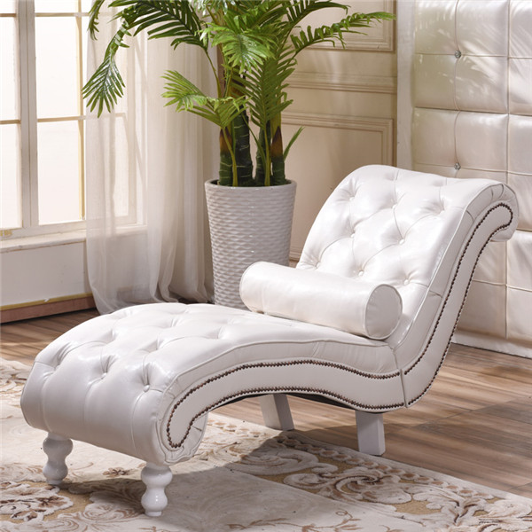 US $259.0 |Faux Leather Tufted Chaise Lounge Chair Modern Upholstered Couch  for Bedroom Living Room Furniture Chesterfield Lounger Daybed-in Chaise ...