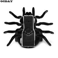OCDAY RC Spiders Infrared Remote Control Mock Fake RC Toy Simulation Wall Climbing Spider Trick Terrifying Toys for Children