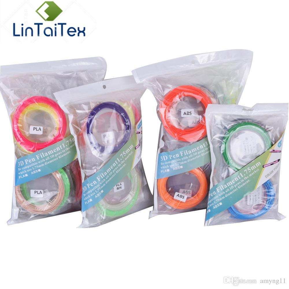 5M/Color 20 Colors Per Lot 3d Pen Filament ABS/PLA 1.75mm 3D Printer Filament Materials for 3D Printing Pen