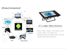 Pocket Projector With Bluetooth WiF, Android 4.4 Systerm 1G + 16G