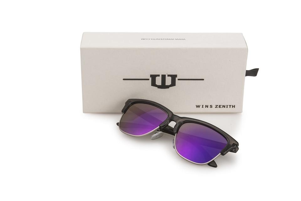 Winszenith 249 Nouvelles lunettes de soleil rétro lunettes de soleil de couleur Européenne tendance couleur film lunettes de soleil 12 pièce