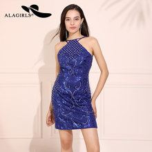 Alagirls Sexy Homecoming Dresses 2019 Short Backless Prom Dress Spaghetti Short Evening Dress Vestido de bienvenida 2019