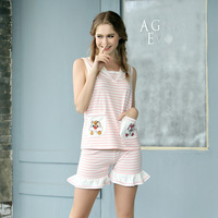 Korea Girl Lace Women Short Sexy Pajamas Tank Camisole Cami Set New Spring And Summer Home