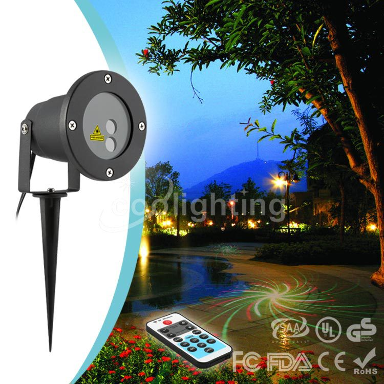 ФОТО High quality Christmas 8 pattern remote control water proof laser lawn lamp garden lawn lamp square atmosphere lamp