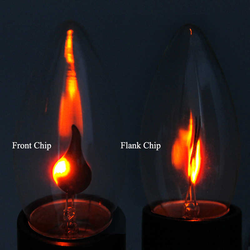 Led E14 E27 Light Bulb Flame Fire Lighting Energy Saving Lamp Candle Bulb  Flickering Effect Luminaria Tip Lamp Lampada Led Light