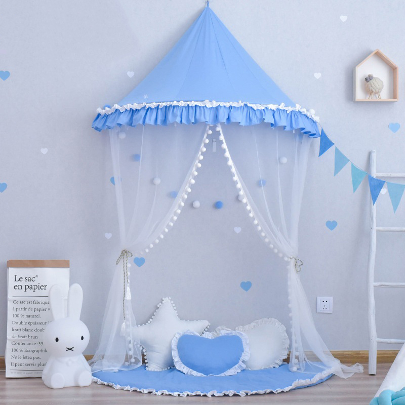 YARD Boys Girls Canopy Tent with Hanging Mosquito Net Portable Kids Play House Tent baby bed canopy without bottom portable folding baby bed mosquito net children mosquito tent 65 115cm kids outdoor camping tent