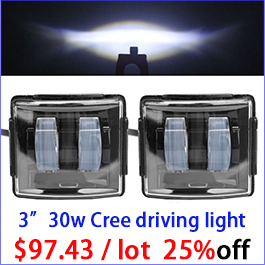 2pcs 30W Led Work Light Driving Fog Beam Worklight Off Road Offroad Car Auto Light 12V Driving Fog SUV 4WD Boat Truck Motorcycle