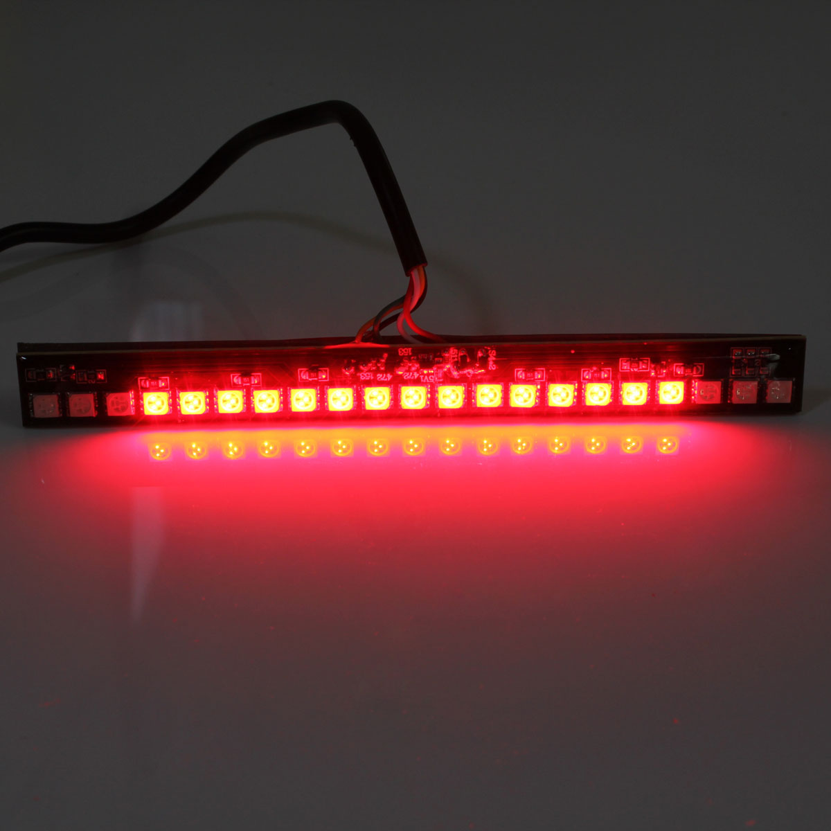 Red led light strips light images light ideas 12v 21 led smd red led tail rear brake stop turn signal light mozeypictures Image collections