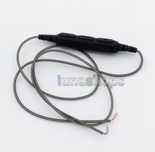 Semi-Finished Aluminum Foil Mic Remote Wireless Bluetooth Earphone Cable For DIY Custom Repair LN005881