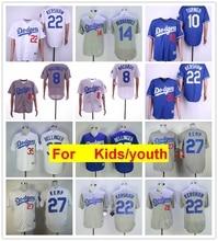youth Los Angeles Clayton Kershaw Justin Turner Enrique Hernandez kidsny  Machado Cody Bellinger Matt Kemp FLEX Cool Base Jersey c91beae541b