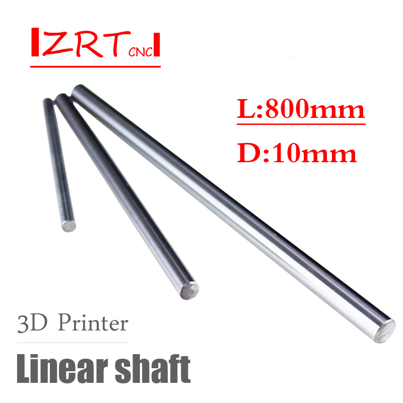 10mm Linear Shaft Length 800mm Chrome Plated For Cnc Parts WCS Round Steel Rod Bar Cylinder Linear Rail 1pcs one pcs cnc linear shaft chrome od 10mm l 500mm wcs round harden steel rod bar cylinder linear rail for cnc parts