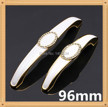 Length 112mm Hole CC 96mm Zinc Alloy handle drawer handle Antique furniture handle cabinet handle Ivory