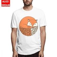 Mens O-neck Fox T-shirt 3D Print T Shirt 100% Cotton S-6XL Tshirt Cartoon Animal t shirt Top design New Arrival